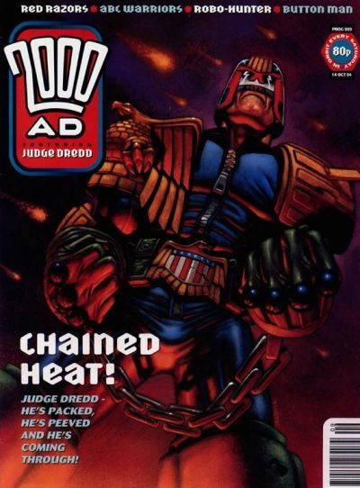 Cover for 2000 AD (Fleetway Publications, 1987 series) #909