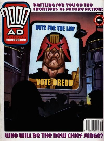 Cover for 2000 AD (Fleetway Publications, 1987 series) #916