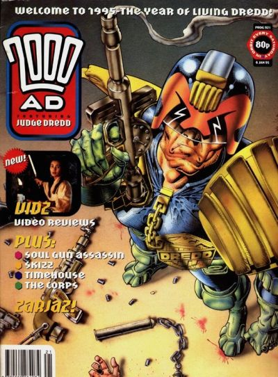 Cover for 2000 AD (Fleetway Publications, 1987 series) #921