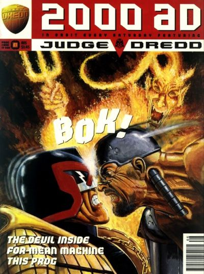 Cover for 2000 AD (Fleetway Publications, 1987 series) #966