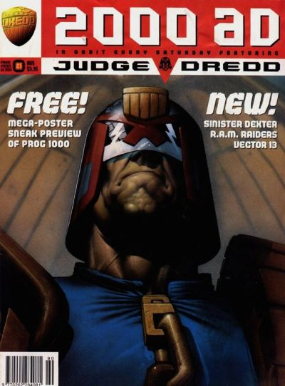 Cover for 2000 AD (Fleetway Publications, 1987 series) #990