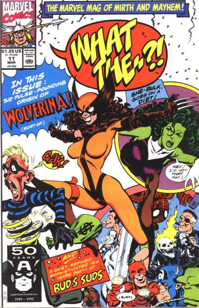 Cover for What The--?! (Marvel, 1988 series) #11 [Direct]