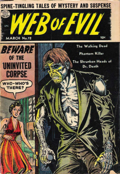 Cover for Web of Evil (Quality Comics, 1952 series) #12
