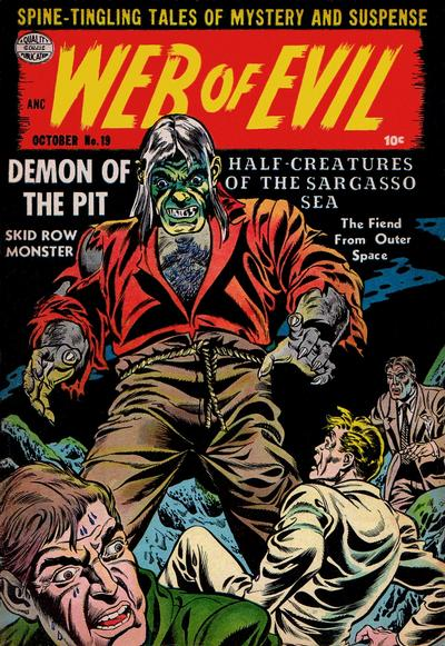 Cover for Web of Evil (Quality Comics, 1952 series) #19