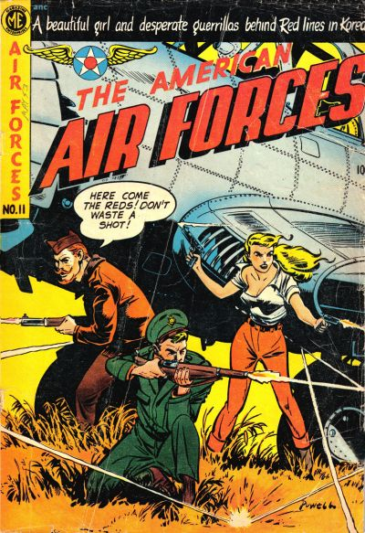 Cover for The American Air Forces (Magazine Enterprises, 1951 series) #11 [A-1 #79]