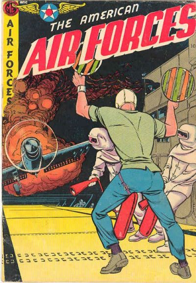 Cover for The American Air Forces (Magazine Enterprises, 1951 series) #12 [A-1 #91]