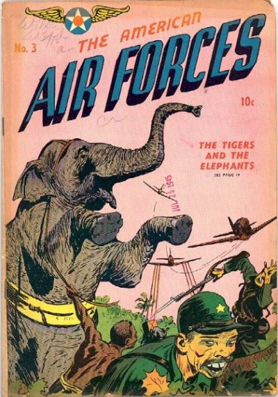 Cover for The American Air Forces (Magazine Enterprises, 1944 series) #3
