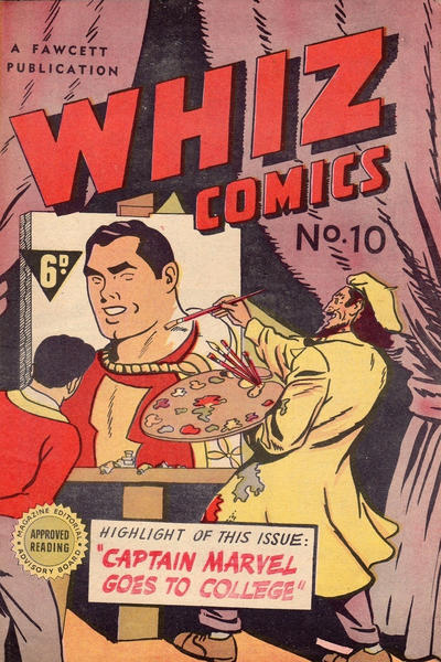 Cover for Whiz Comics (Cleland, 1946 series) #10