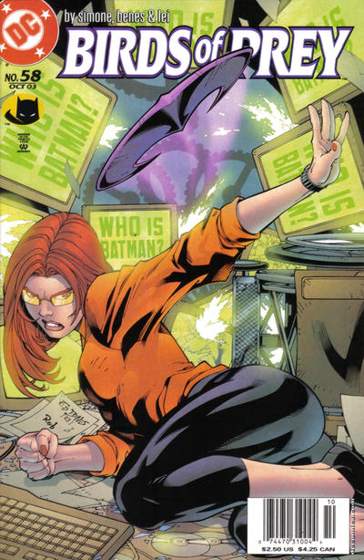 Cover for Birds of Prey (DC, 1999 series) #58