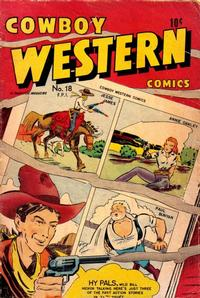 Cover Thumbnail for Cowboy Western Comics (Charlton, 1948 series) #18