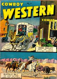 Cover Thumbnail for Cowboy Western Comics (Charlton, 1948 series) #21