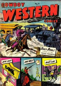 Cover Thumbnail for Cowboy Western Comics (Charlton, 1948 series) #22
