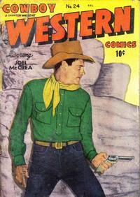 Cover Thumbnail for Cowboy Western Comics (Charlton, 1948 series) #24