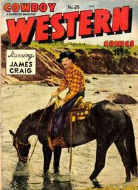 Cover Thumbnail for Cowboy Western Comics (Charlton, 1948 series) #25