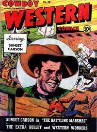 Cover Thumbnail for Cowboy Western Comics (Charlton, 1948 series) #28