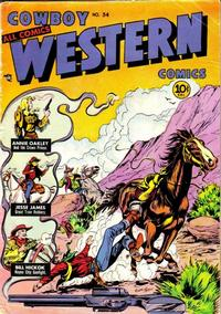Cover Thumbnail for Cowboy Western Comics (Charlton, 1948 series) #34