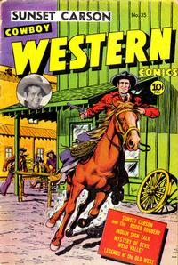 Cover Thumbnail for Cowboy Western Comics (Charlton, 1948 series) #35