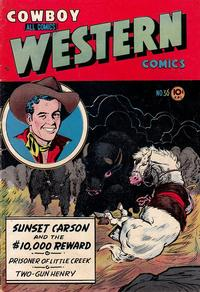 Cover Thumbnail for Cowboy Western Comics (Charlton, 1948 series) #36