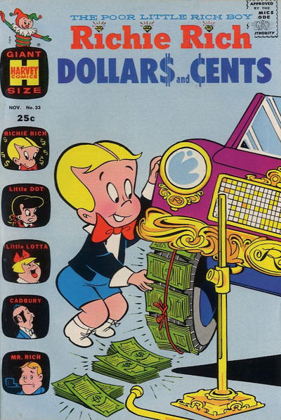 Cover for Richie Rich Dollars and Cents (Harvey, 1963 series) #33