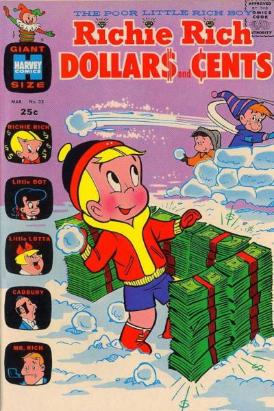 Cover for Richie Rich Dollars and Cents (Harvey, 1963 series) #35