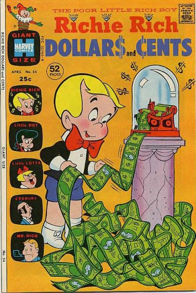 Cover for Richie Rich Dollars and Cents (Harvey, 1963 series) #54