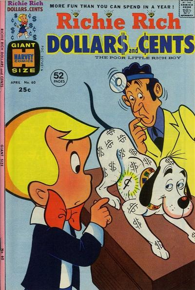 Cover for Richie Rich Dollars and Cents (Harvey, 1963 series) #60