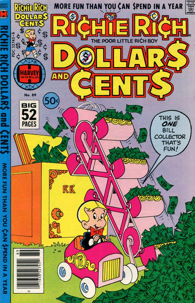 Cover for Richie Rich Dollars and Cents (Harvey, 1963 series) #89