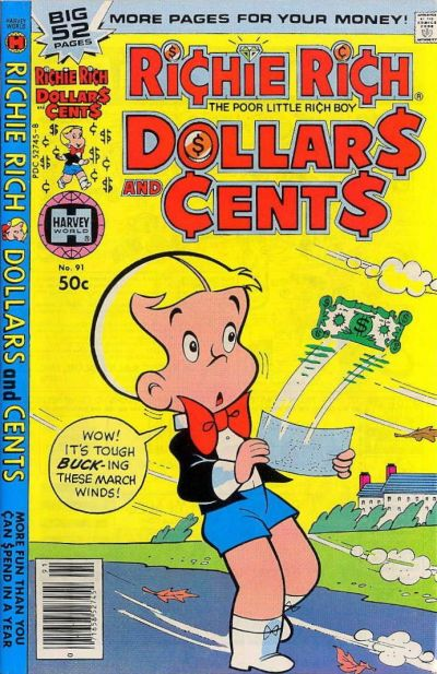 Cover for Richie Rich Dollars and Cents (Harvey, 1963 series) #91