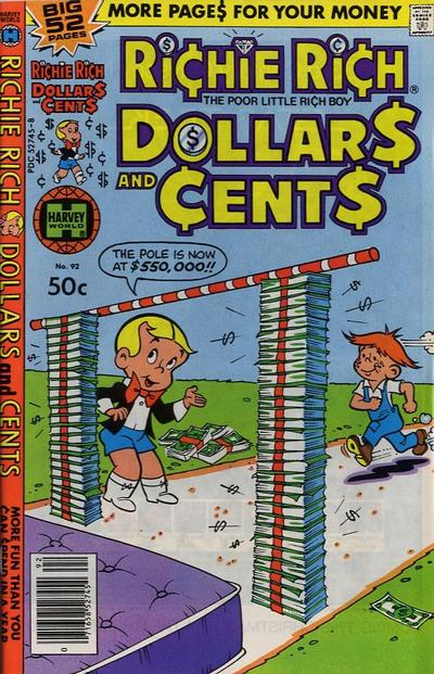 Cover for Richie Rich Dollars and Cents (Harvey, 1963 series) #92