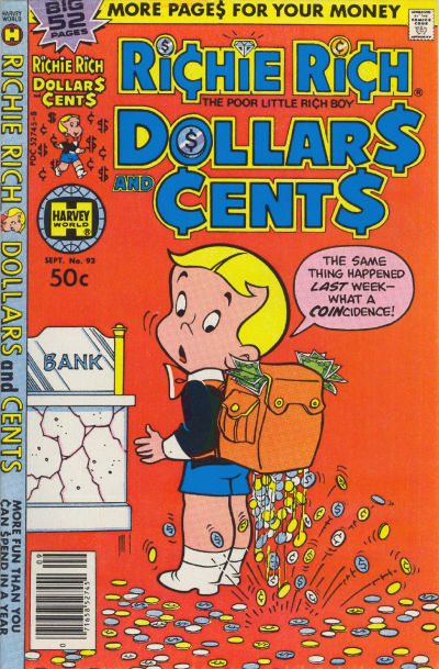 Cover for Richie Rich Dollars and Cents (Harvey, 1963 series) #93