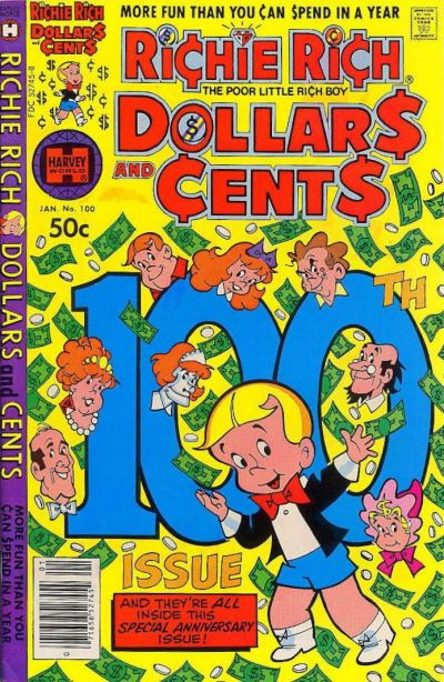 Cover for Richie Rich Dollars and Cents (Harvey, 1963 series) #100