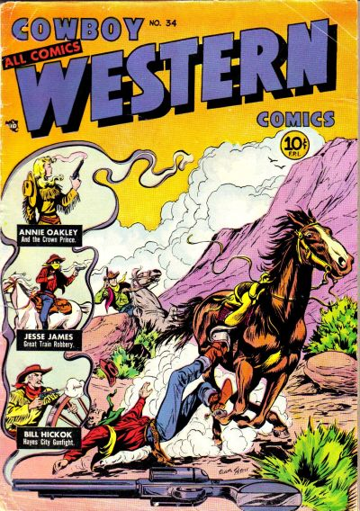 Cover for Cowboy Western Comics (Charlton, 1948 series) #34