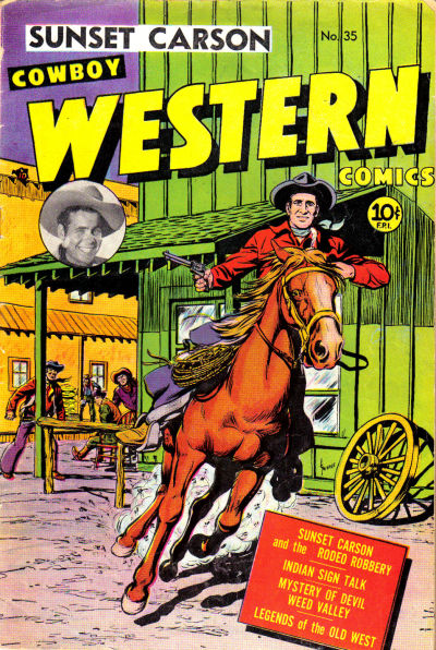 Cover for Cowboy Western Comics (Charlton, 1948 series) #35