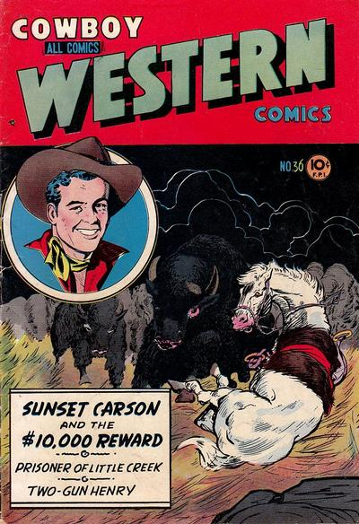 Cover for Cowboy Western Comics (Charlton, 1948 series) #36