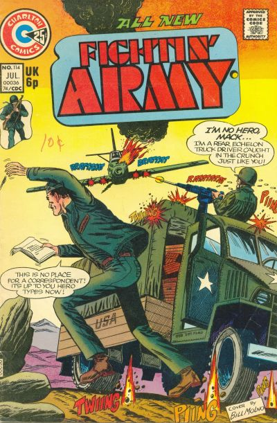 Cover for Fightin' Army (Charlton, 1956 series) #114