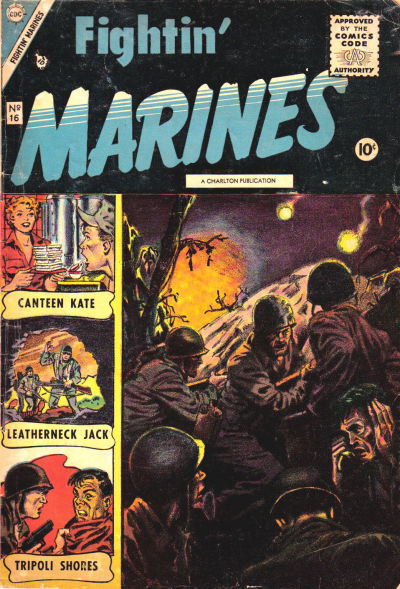 Cover for Fightin' Marines (Charlton, 1955 series) #16 [indicia error reprints St. John Vol. 1, No. 3]