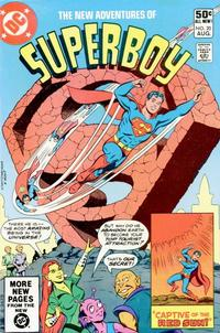 Cover Thumbnail for The New Adventures of Superboy (DC, 1980 series) #20 [Direct Sales]