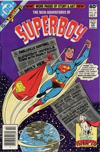 Cover Thumbnail for The New Adventures of Superboy (DC, 1980 series) #22 [Newsstand]