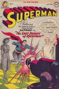 Cover Thumbnail for Superman (DC, 1939 series) #74