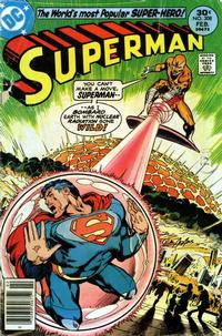 Cover for Superman (DC, 1939 series) #308