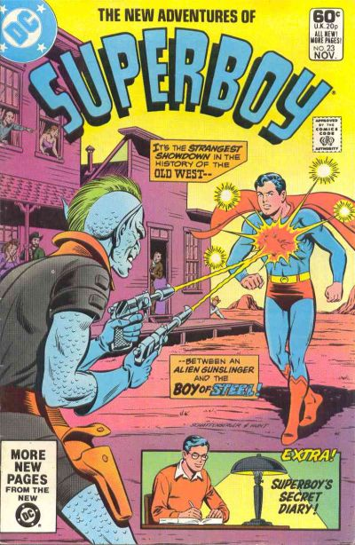 Cover for The New Adventures of Superboy (DC, 1980 series) #23 [Direct]