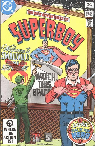 Cover for The New Adventures of Superboy (DC, 1980 series) #40 [Canadian]
