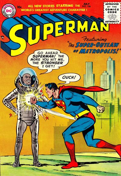 Cover for Superman (DC, 1939 series) #106