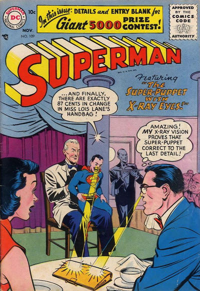 Cover for Superman (DC, 1939 series) #109