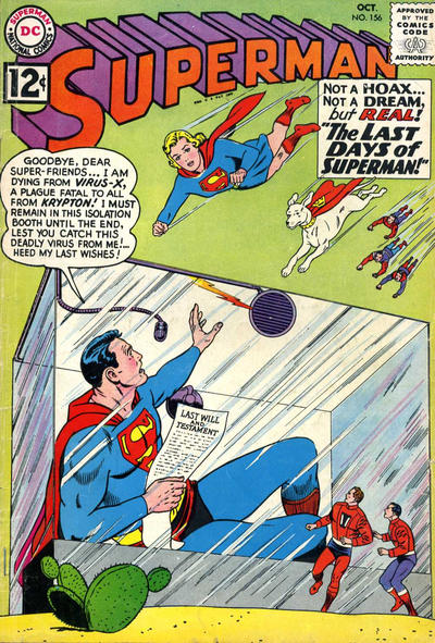 Cover for Superman (DC, 1939 series) #156