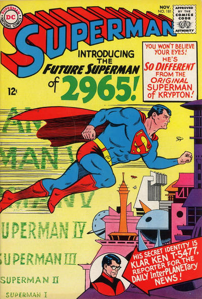 Cover for Superman (DC, 1939 series) #181