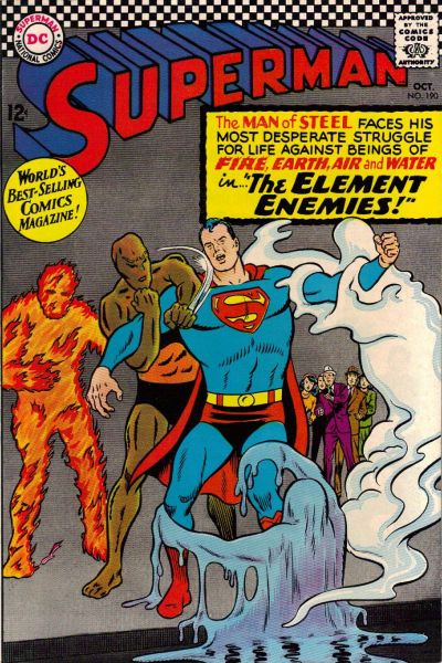 Cover for Superman (DC, 1939 series) #190