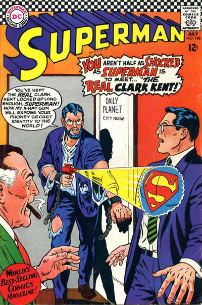Cover for Superman (DC, 1939 series) #198