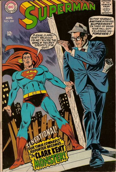 Cover for Superman (DC, 1939 series) #209