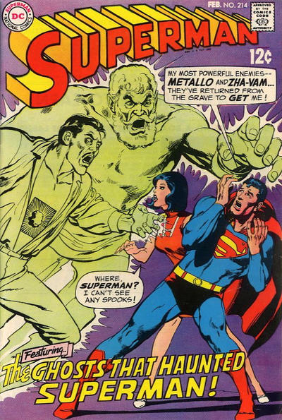 Cover for Superman (DC, 1939 series) #214